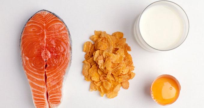 ویتامین D بر سر سفره غذا