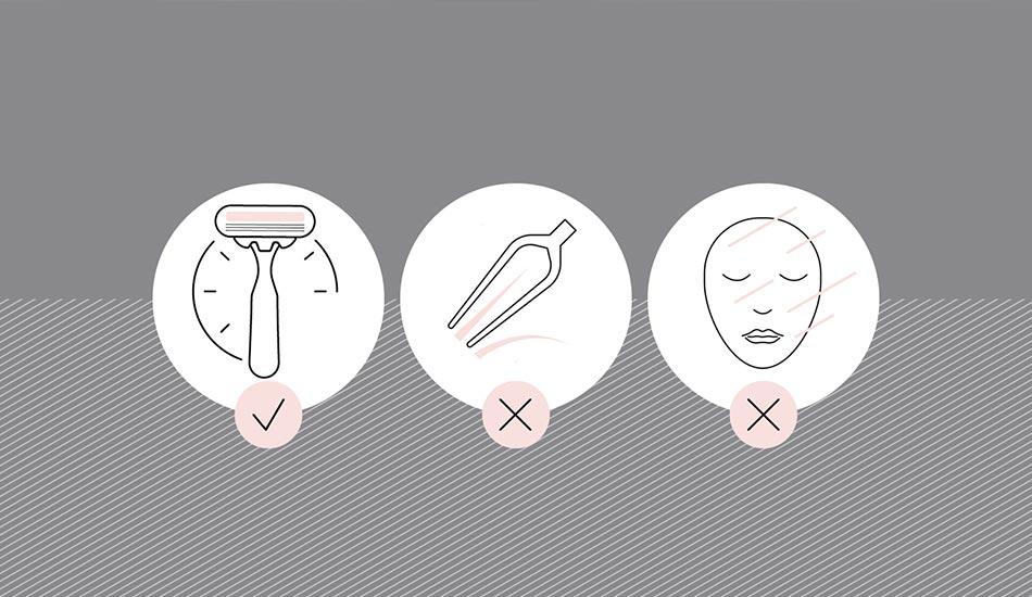 آمادگی پیش از درمان لیزر موهای زائد - کلینیک رخ آرا
