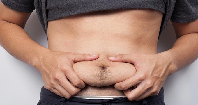 چاقی و پوست اضافه در ناحیه شکم