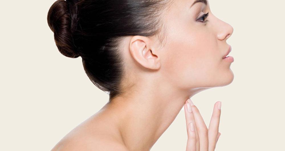 درمان غبغب با تزریق ژل