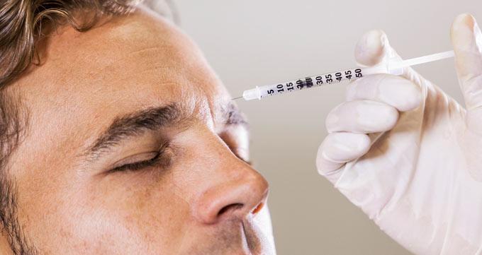 تزریق ژل خط پیشانی